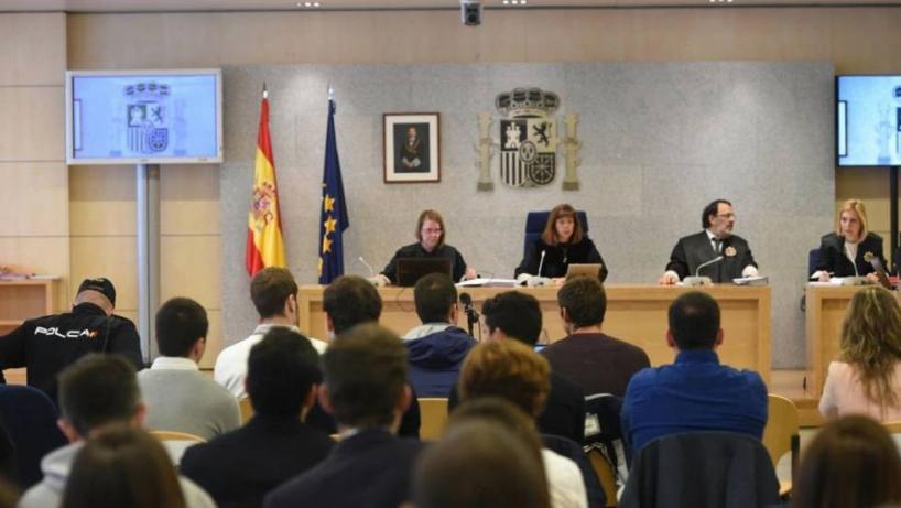 Imagen de archivo del juicio contra los agresores de Alsasua que se celebró el  pasado año en la Audiencia Nacional.