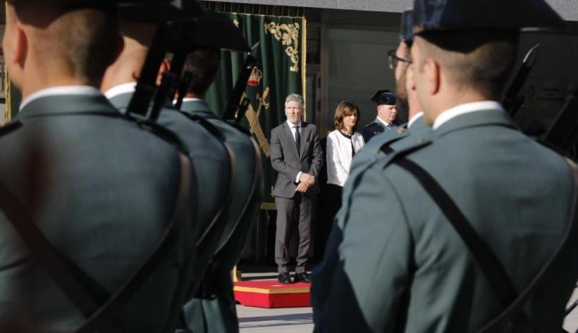 Imagen de archivo del ministro del Interior, Fernando Grande Marlaska, en la presentación de Félix Azón como director general de la Guardia Civil. Foto: EP