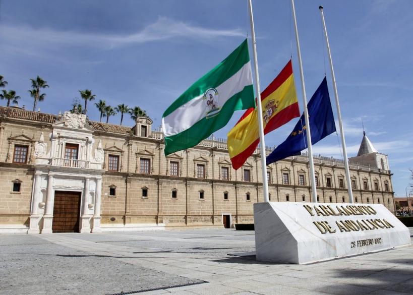 Vista del edificio del Parlamento de Andalucía, comunidad donde se celebraron elecciones el pasado 2 de diciembre.