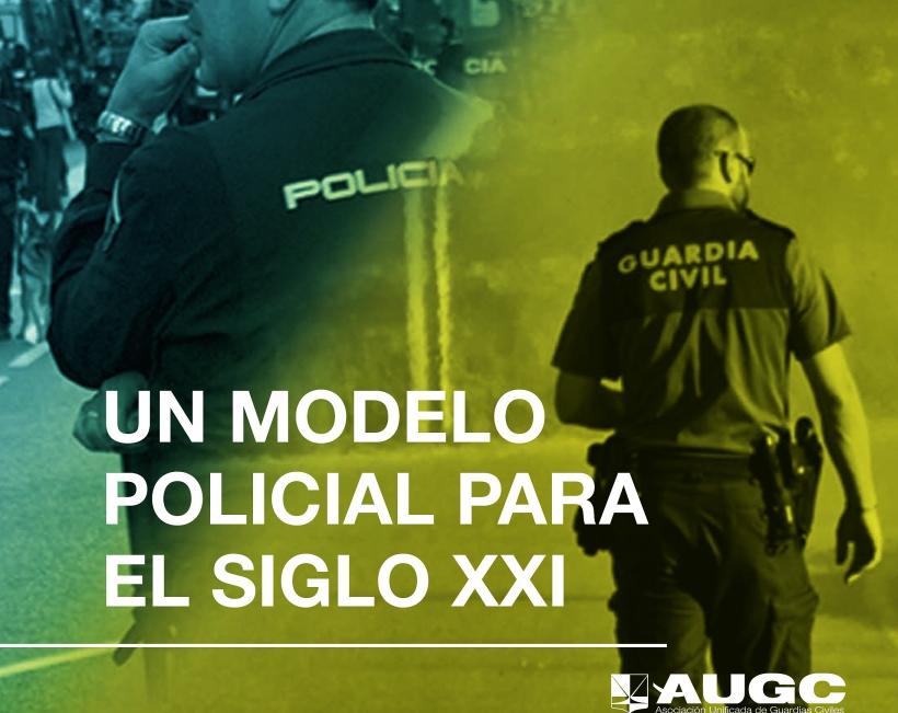 Portada de la publicación que ha editado AUGC con su propuesta para un nuevo modelo policial.