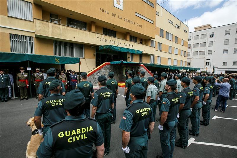 Imagen de archivo de la celebración de un acto en la Comandancia de Tenerife.