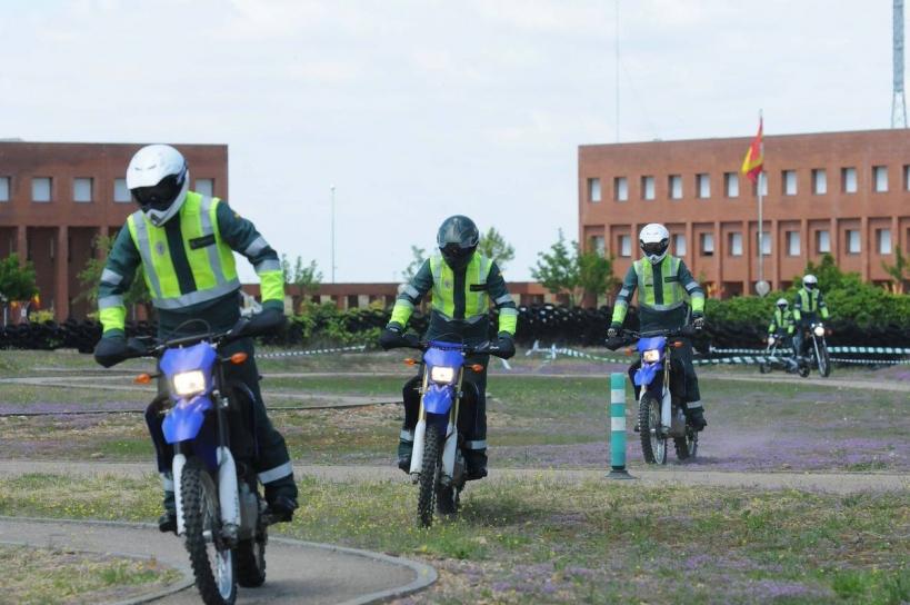 Alumnos de la Escuela de Tráfico de Mérida, en cuyas instalaciones tendrá lugar la asamblea de AUGC Badajoz.