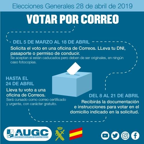 AUGC te explica cómo solicitar el voto por correo de cara a las próximas elecciones generales.