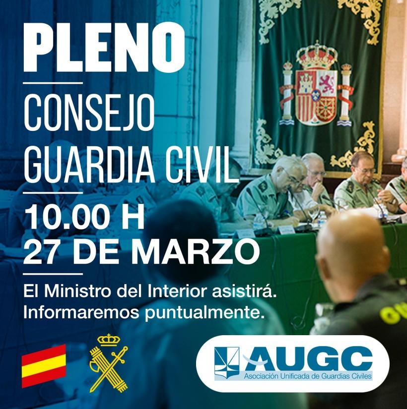 Celebrado segundo Pleno del Consejo de la Guardia Civil.