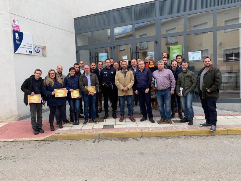 Foto de grupo de los participantes en la Jornada.