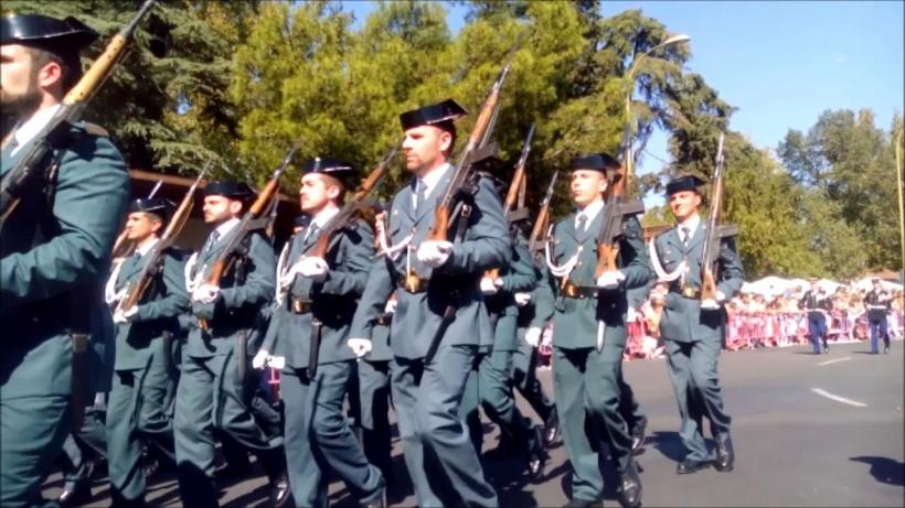 Imagen de archivo de un desfile de la Guardia Civil.