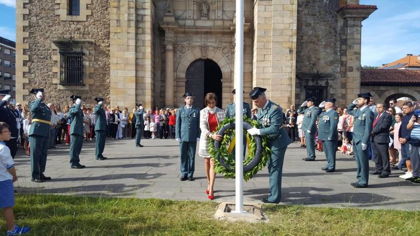 Actos de celebración de la Virgen del Pilar en Cantabria en octubre de 2018. Foto: El Comercio / Nacho Gavia.