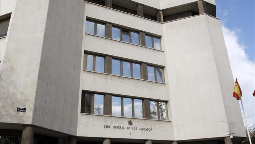 Vista parcial de la sede de los Juzgados de Plaza de Castilla, donde se presentó la denuncia.