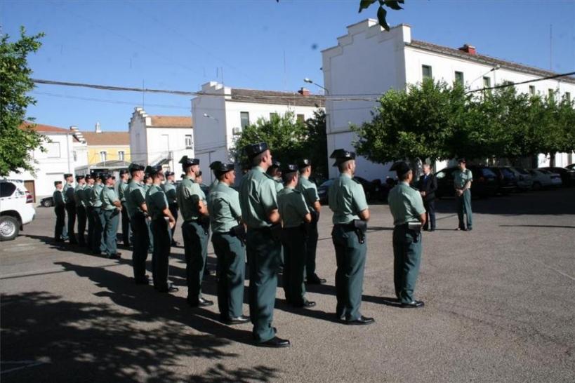Presentación de guardias en prácticas en la Comandancia de Córdoba