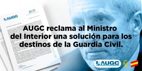 AUGC reclama a Marlaska que intervenga para solucionar el problema en la asignación de destinos.