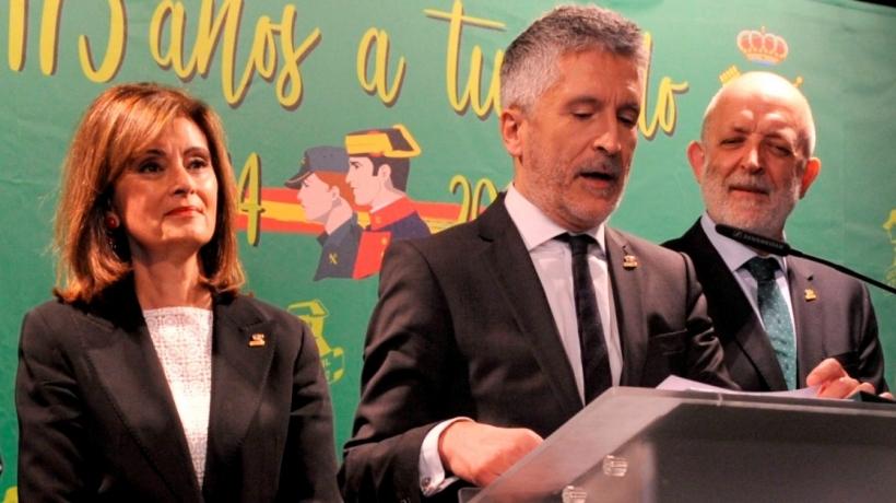 El Ministro del Interior, Fernando Grande-Marlaska, en un acto protocolario.