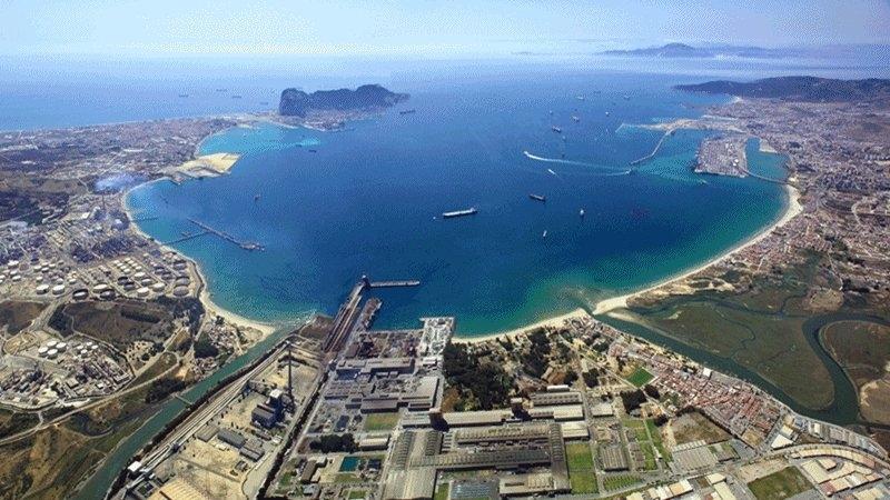 Vista aérea del Campo de Gibraltar.