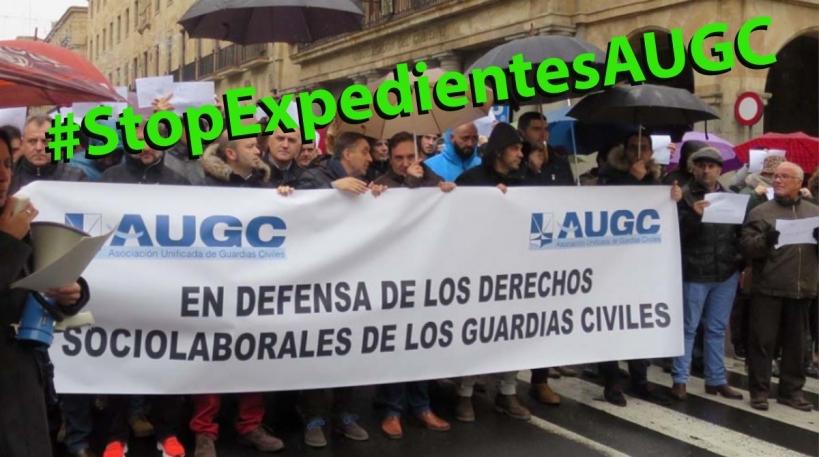 Campaña #StopExpedientesAUGC