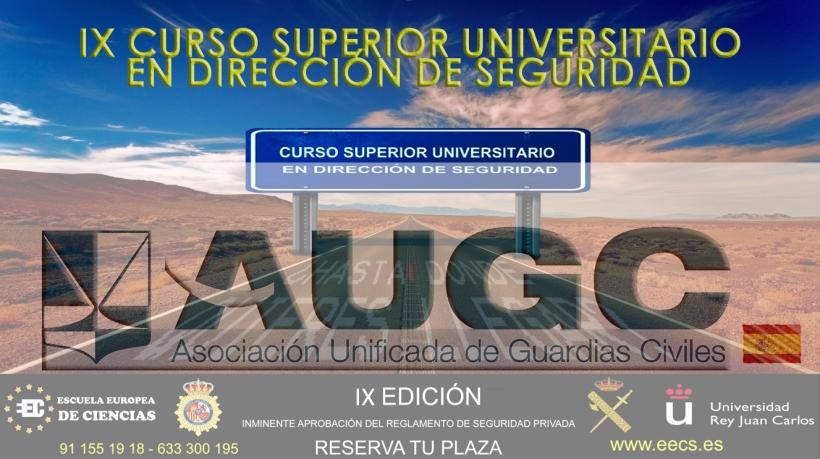 Cartel informativo para la realización del IX CURSO SUPERIOR UNIVERSITARIO EN DIRECCIÓN DE SEGURIDAD