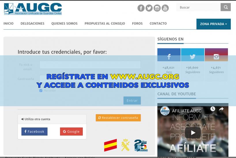 Registrarse en el portal web de AUGC es rápido y sencillo.