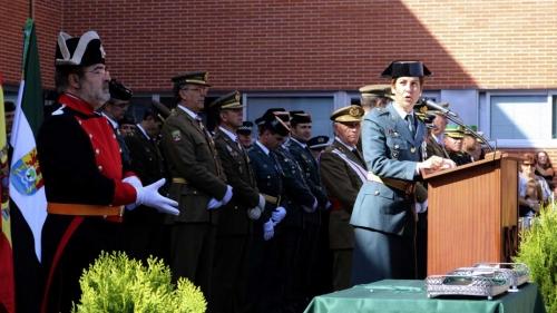 Acto protocolario en la Comandancia de la Guardia Civil de Cáceres.