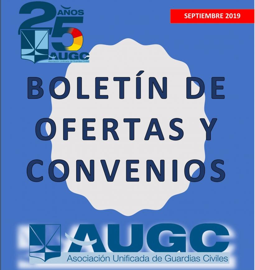Portada del boletín de convenios correspondiente a septiembre de 2019