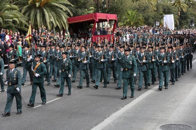 Imagen de archivo de un desfile con la participación de trabajadores de la Guardia Civil.