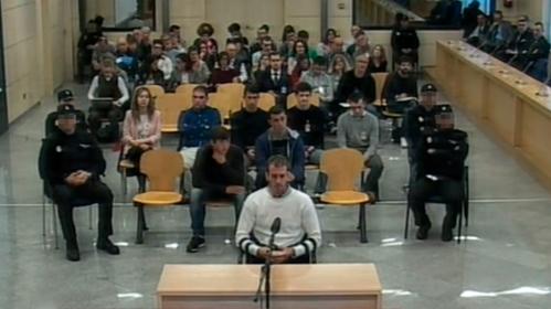 Imagen de archivo del juicio del Caso Alsasua.
