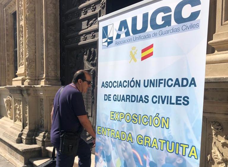 Entrada a la exposición de AUGC en Sevilla.