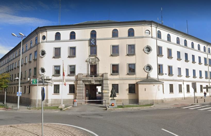 Comandancia de Segovia, en cuyo salón de actos tendrá lugar la asamblea de AUGC.