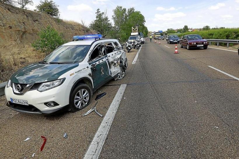 Los accidentes de circulación son una de las principales causas de lesiones para los guardias civiles.