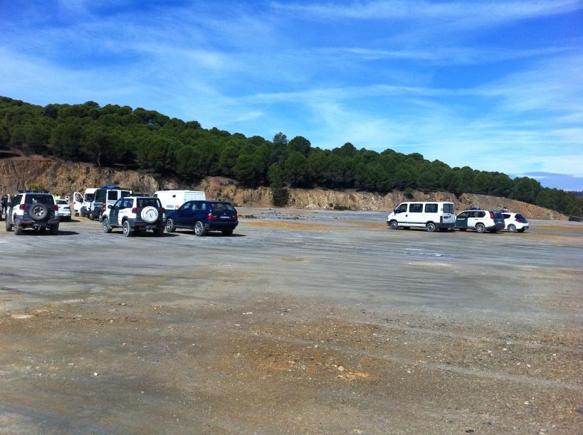 Panorámica del terreno donde se realizan los ejercicios de tiro, que no cuenta con instalación sanitaria alguna.