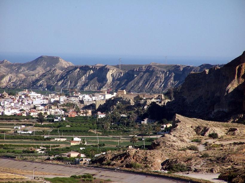 Vista panorámica de la zona de Cuevas del Almanzora, donde la delincuencia ha crecido exponencialmente en los últimos años.