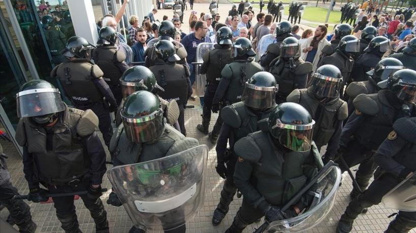 Los GRS desplegados en Cataluña continúan viviendo en situación precaria.