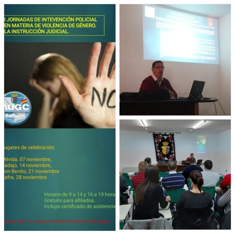 Curso Viogen impartido por AUGC Badajoz a sus afiliados.