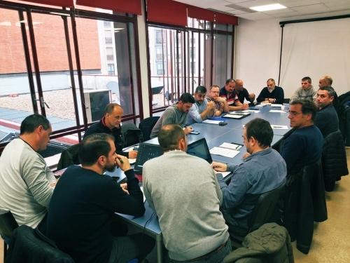 Un instante de la reunión de los coordinadores.