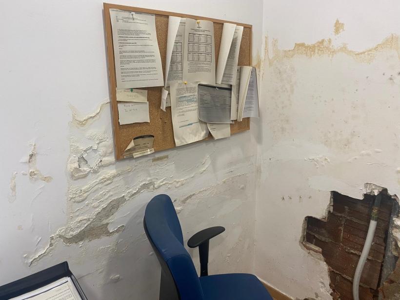 Imagen del lamentable estado de las instalaciones del cuartel de Galapagar.