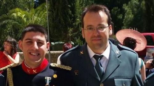 Víctor Romero (i) y Víctor Jesús Caballero (d), los dos Guardias Civiles asesinados por Robert Feher.