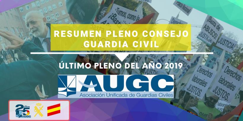 Celebrado Pleno del Consejo de la Guardia Civil correspondiente al último trimestre de 2019.