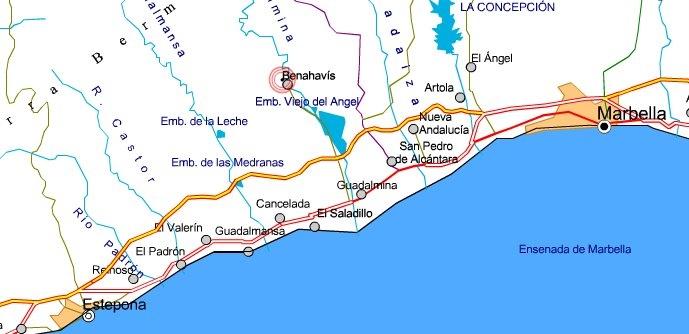 Ubicación de la localidad malagueña de Benahavís, donde se encuentra destinado el Sargento.