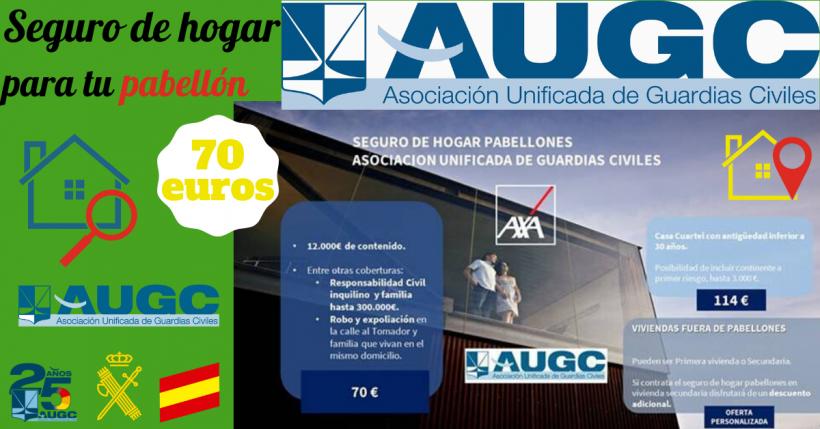 AUGC y AXA ofrecen una novedad para proteger tu vivienda oficial.