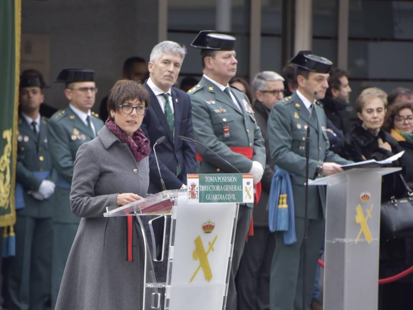 La Directora General, María Gámez, en el acto de su toma de posesión del cargo.