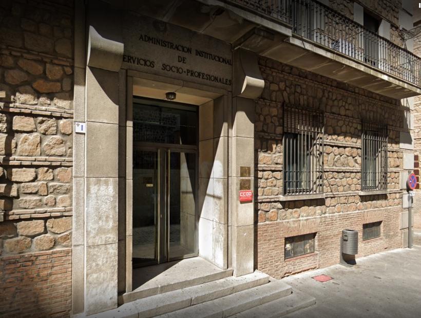 Sede de Comisiones Obreras en Toledo, en cuyo salón de actos se celebrará el Plenario.