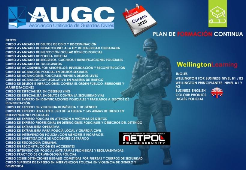 Cartel del 6º Plan de Formación Continua de AUGC.