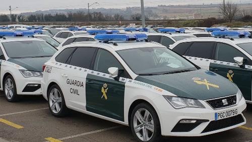 Vehículos oficiales de la Guardia Civil.